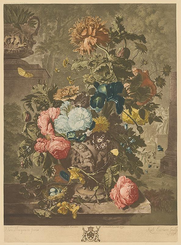 Richard Earlom, Jan van Huysum, John Boydell – Zátišie s kyticou