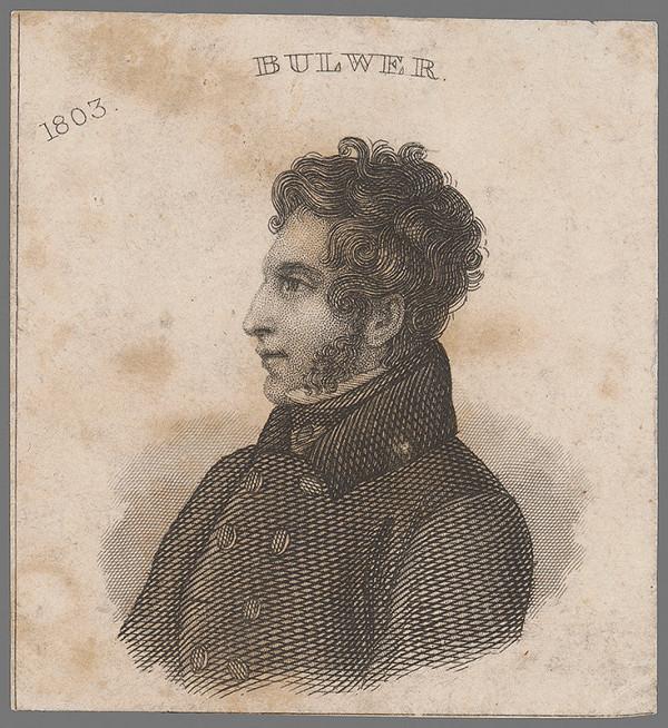 Stredoeurópsky grafik z 19. storočia - Portrét Bulwera