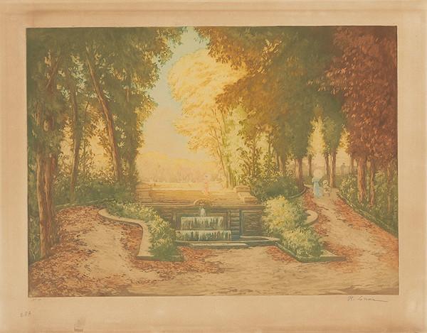 René Lorrain - Pohľad do parku