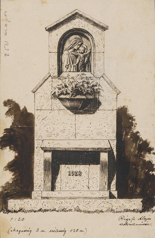Alojz Rigele – Návrh na pomník