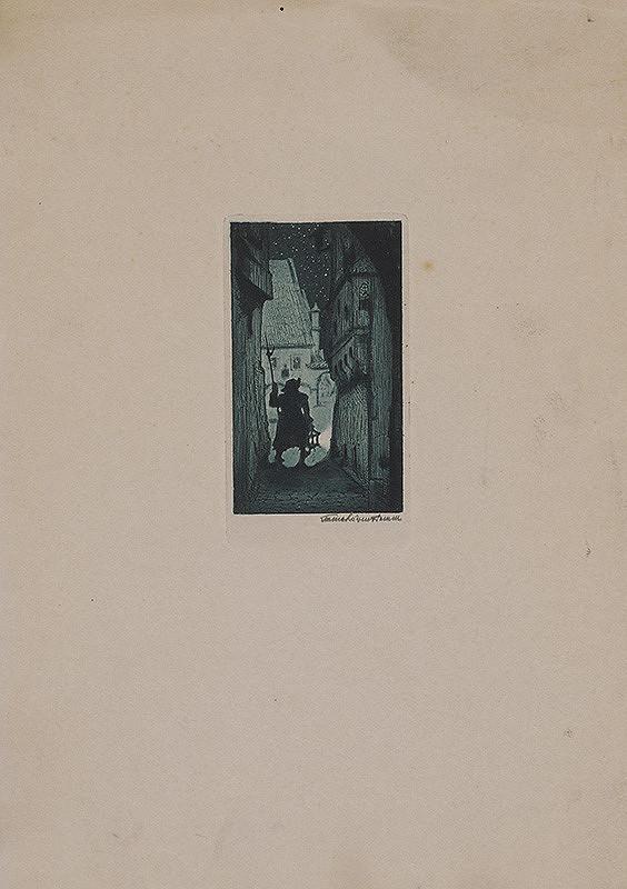 Stredoeurópsky grafik z 1. polovice 20. storočia – Nočný hlásnik