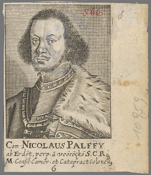 Stredoeurópsky grafik z 2. polovice 18. storočia - Podobizeň Mikuláša Pálffyho