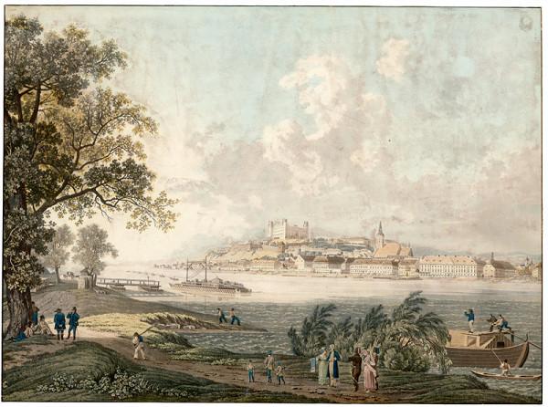 Eduard Gurk, Joseph Ignaz Gurk – Pohľad na Bratislavu z juhu