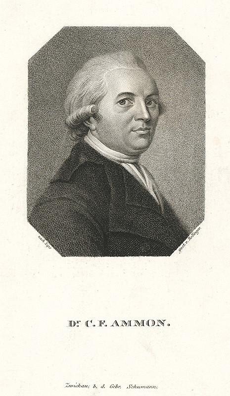 Friedrich Wilhelm Bollinger, Johann Jacob Lips – Portrét Christopha Friedricha Ammona