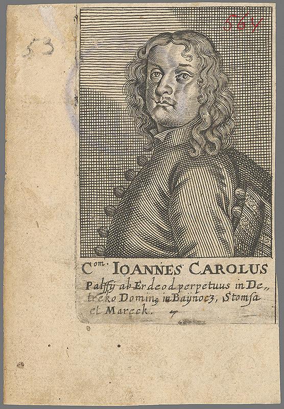 Stredoeurópsky grafik z 2. polovice 18. storočia - Podobizeň grófa Jána Karola Pálffyho