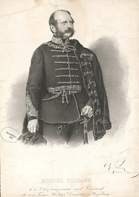 Joseph Kriehuber – Portrét Moritza Czikanna