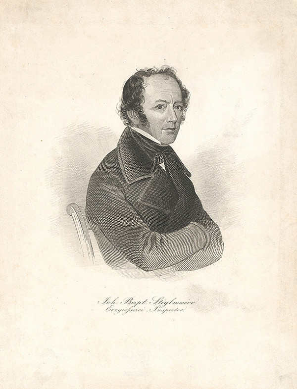 Stredoeurópsky grafik z 19. storočia - Portrét Johanna Baptista Stiglmaiera