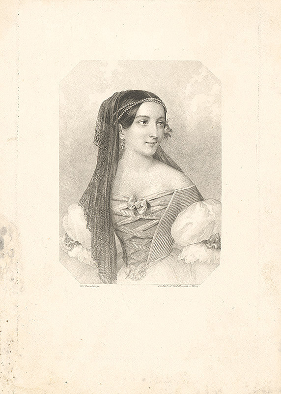 Miklós Barabás – Mladá žena