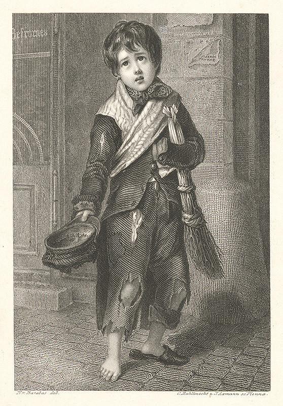 Carl Mahlknecht, Josef Axmann, Miklós Barabás – Žobrajúci chlapec