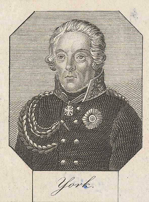 Stredoeurópsky grafik z 1. polovice 19. storočia – Podobizeň generála Yorka
