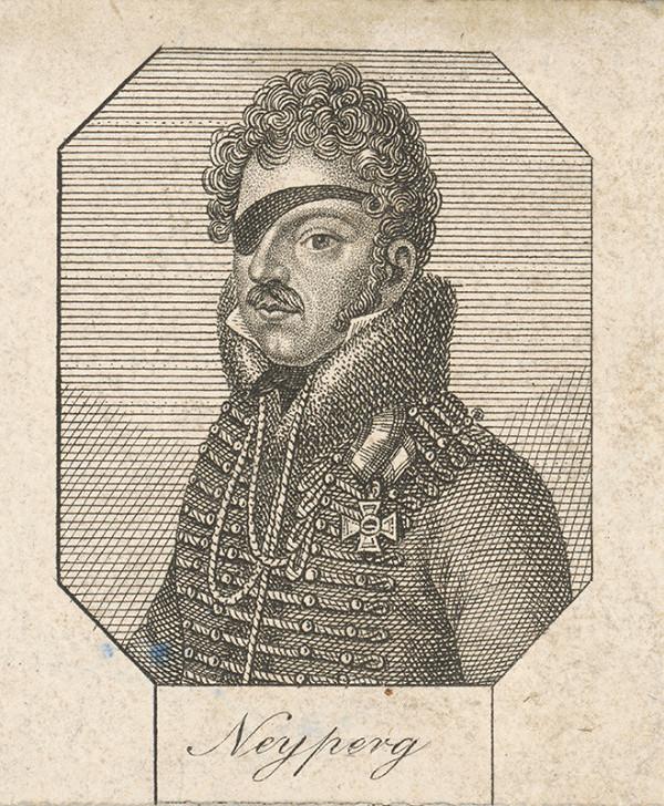 Stredoeurópsky grafik z 1. polovice 19. storočia - Podobizeň generála Neyperga