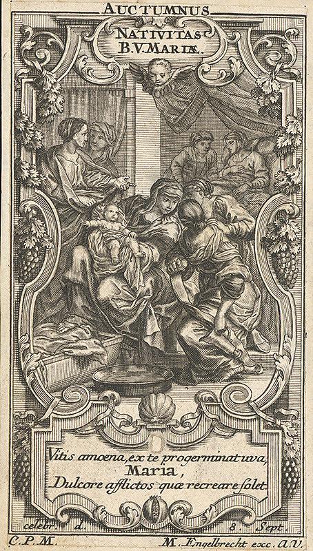 Neznámy autor, Carlo Maratti, Martin Engelbrecht - Narodenie Panny Márie