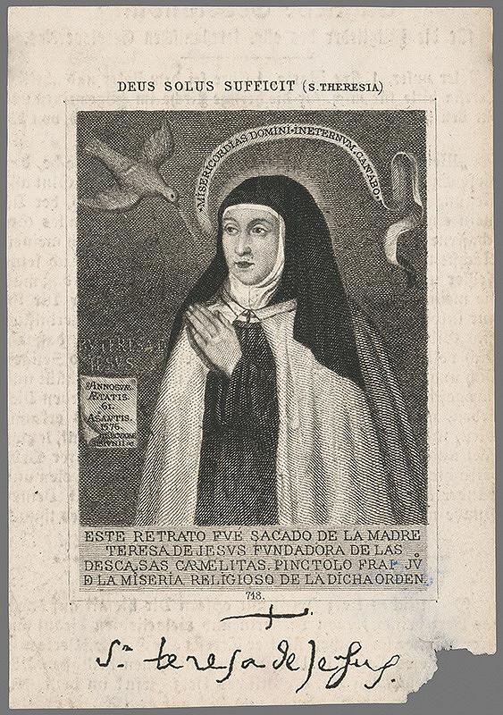 Stredoeurópsky autor z 19. storočia - Svätá Terézia z Ávily