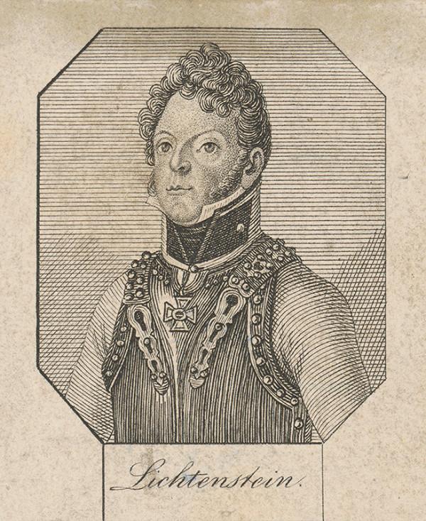 Stredoeurópsky grafik zo začiatku 19. storočia - Portrét generála Lichtensteina