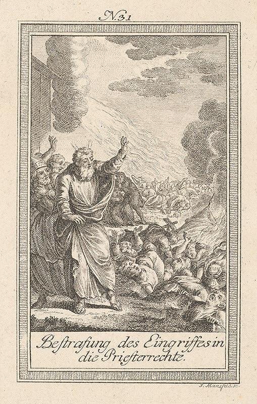 Johann Georg Mansfeld - Mojžiš uvaľuje skazu