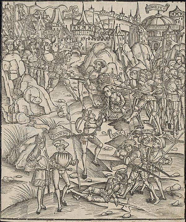 Stredoeurópsky autor z 15. storočia – Bojová scéna