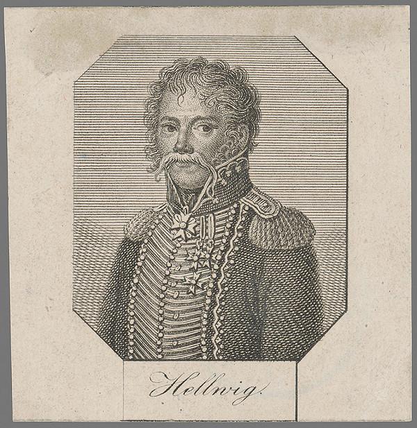 Stredoeurópsky grafik z 1. polovice 19. storočia – Podobizeň generála Hellwiga