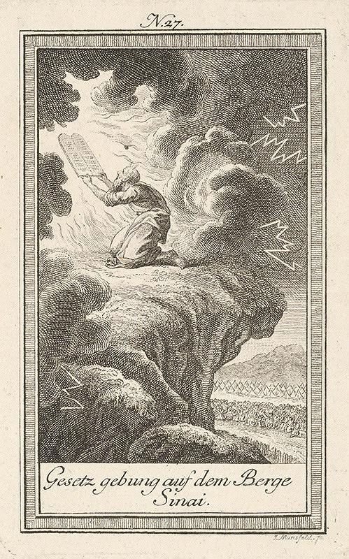 Jozef Mansfeld - Mojžiš na hore Sinai