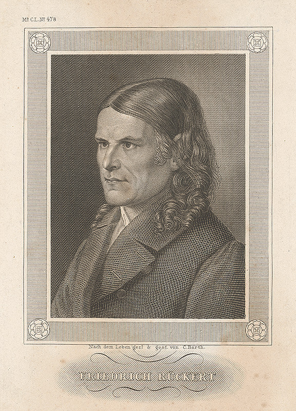 Carl Barth - Portrét Fridricha Rückerta