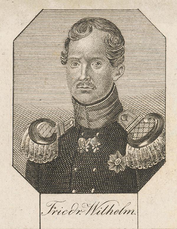 Stredoeurópsky grafik zo začiatku 19. storočia - Portrét Friedricha Wilhelma III. Pruského