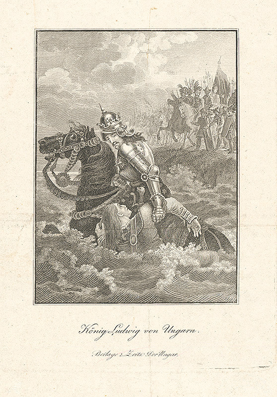 Stredoeurópsky autor z 19. storočia - Kráľ Ľudovít I. v Uhorsku