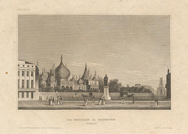Nemecký grafik z 19. storočia - Pavilón v Brightone