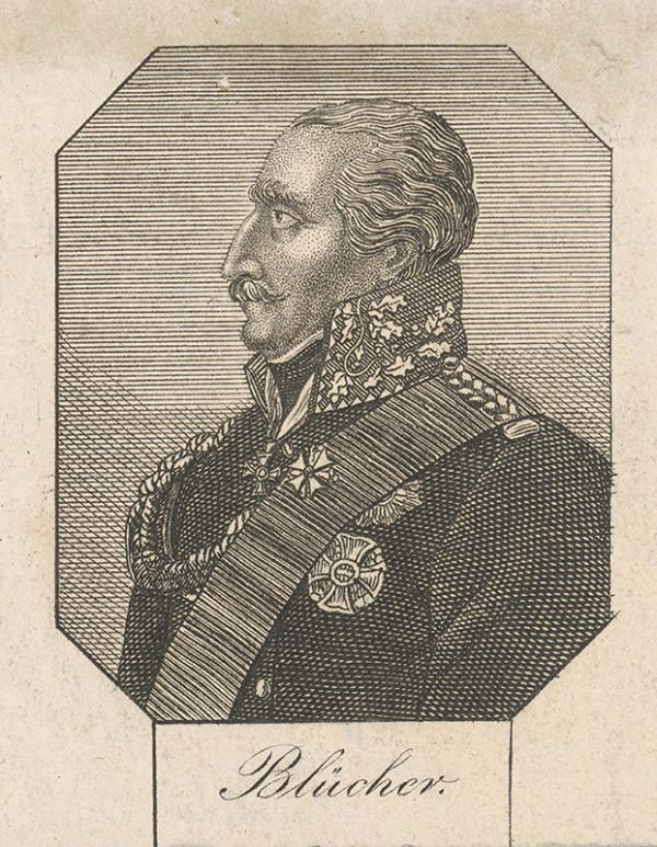 Stredoeurópsky grafik zo začiatku 19. storočia - Portrét generála Bluchera
