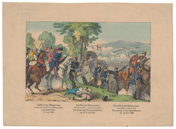 Stredoeurópsky grafik z 2. polovice 19. storočia - Bitka pri Lamači