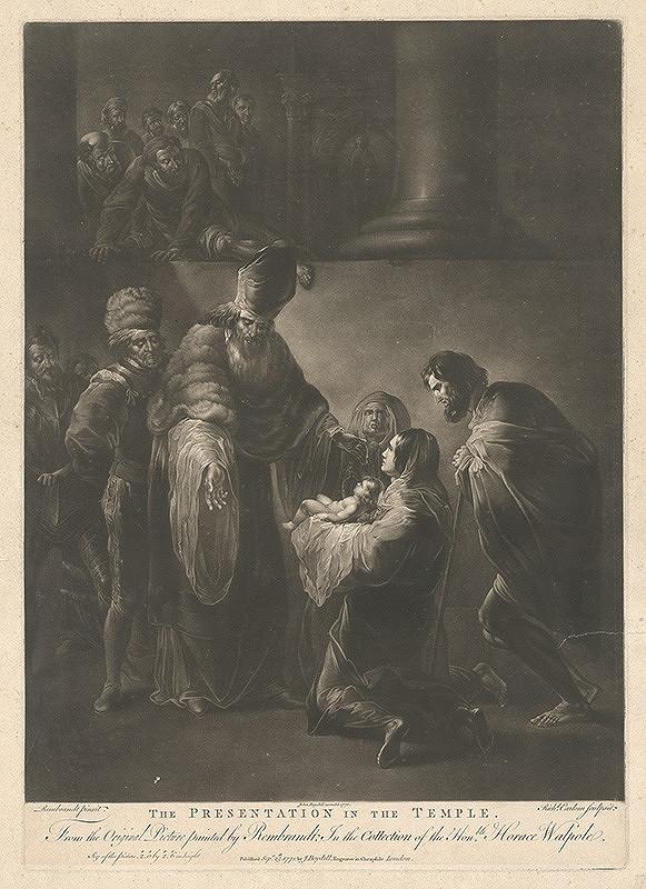 Richard Earlom, Rembrandt van Rijn, John Boydell – Predstavenie v chráme
