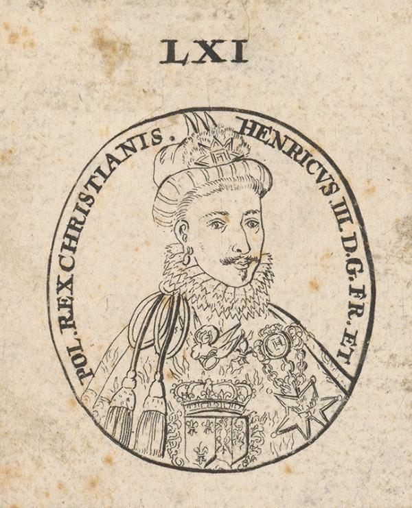 Stredoeurópsky grafik z 1. polovice 18. storočia - Podobizeň cisára a kráľa Henrika III.