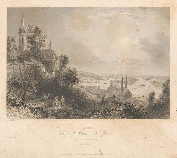 Robert Wallis, William Henry Bartlett – Pohľad na Ofen-Budín