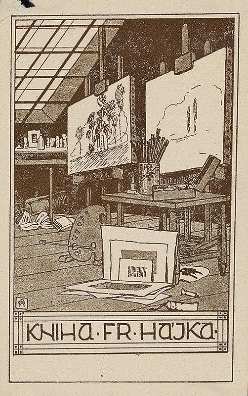 Stredoeurópsky grafik z 20. storočia - Ex libris Fr.Hájka
