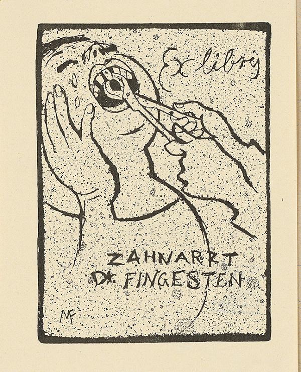 Michel Fingesten - Ex libris Dr. Fingesten