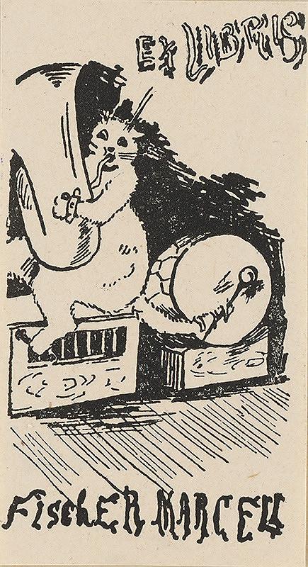 Stredoeurópsky grafik z 20. storočia - Ex libris Fischer Marcell