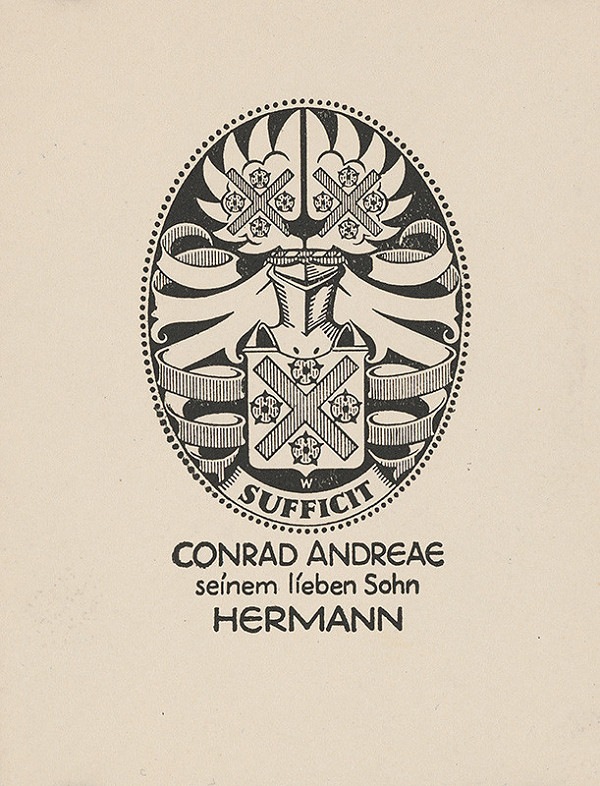 Stredoeurópsky grafik z 1. polovice 20. storočia – Ex libris Conrad Andreae