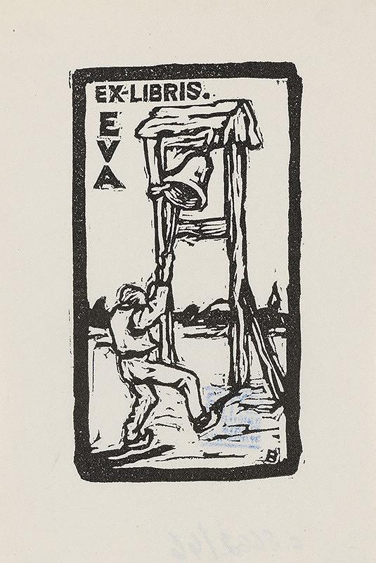 Stredoeurópsky grafik z 1. polovice 20. storočia - Ex libris Eva