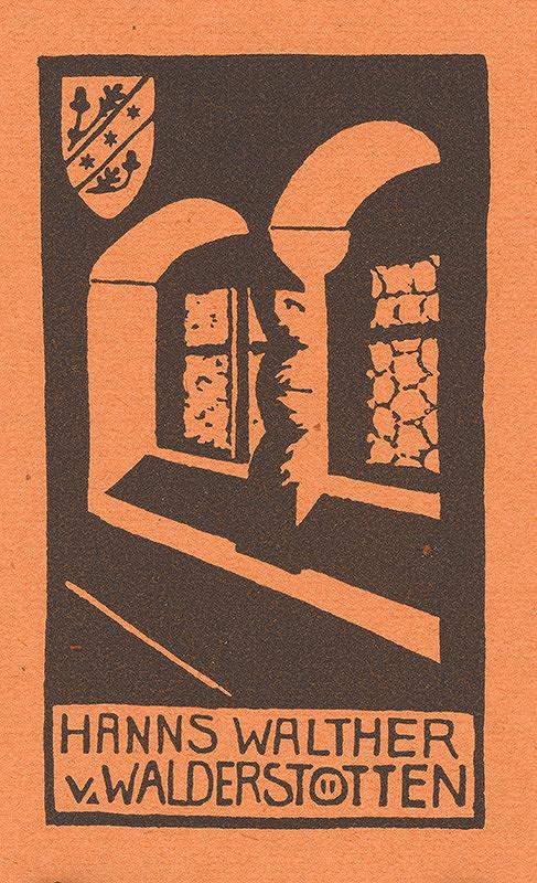 Stredoeurópsky grafik z 20. storočia - Ex libris Hanns Walther v. Walderstötten