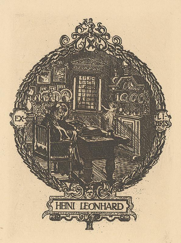 Stredoeurópsky grafik z 20. storočia - Ex libris Heini Leonhard