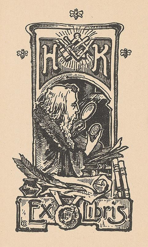 Stredoeurópsky grafik z 20. storočia - Ex libris H.K.
