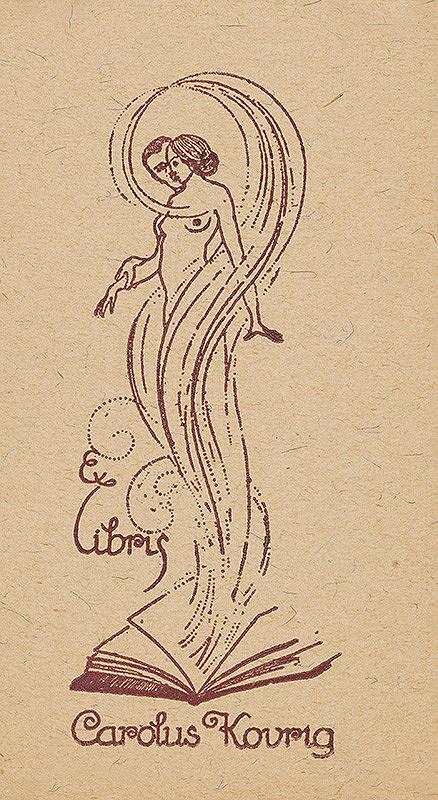 Stredoeurópsky grafik z 1. polovice 20. storočia - Ex libris Carolus Kovrig