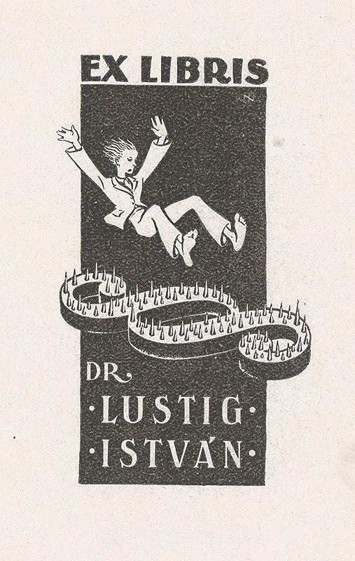 Stredoeurópsky grafik z 1. polovice 20. storočia – Ex libris Dr. Lustig István