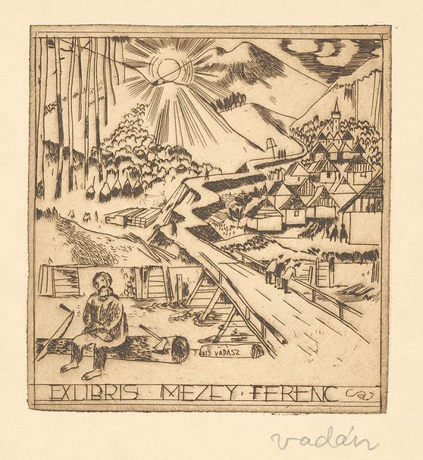 Endre Vadász - Ex libris Mezey Ferenc