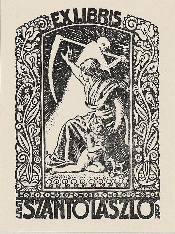 Stredoeurópsky grafik z 20. storočia - Ex libris Dr. Szántó Lászlo