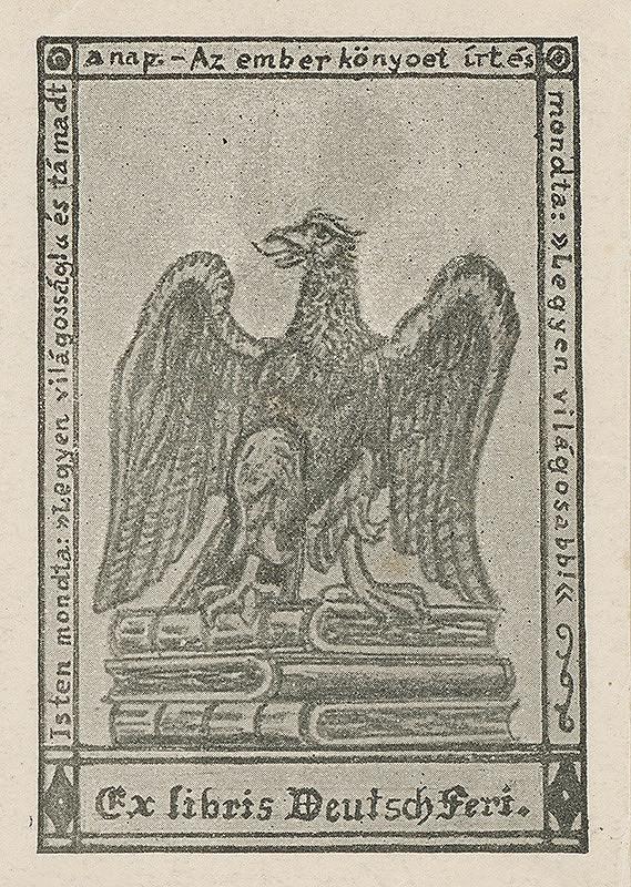 Stredoeurópsky grafik z 20. storočia - Ex libris Deutsch Feri