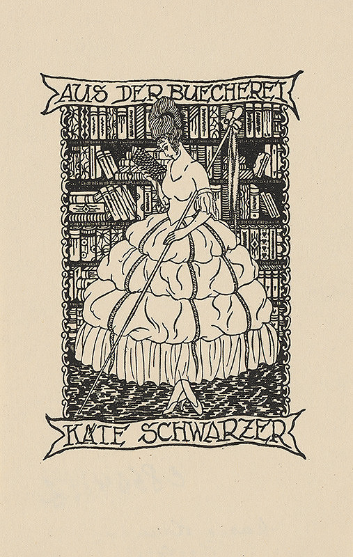 Stredoeurópsky grafik z 20. storočia – Ex libris Käte Schwarzer