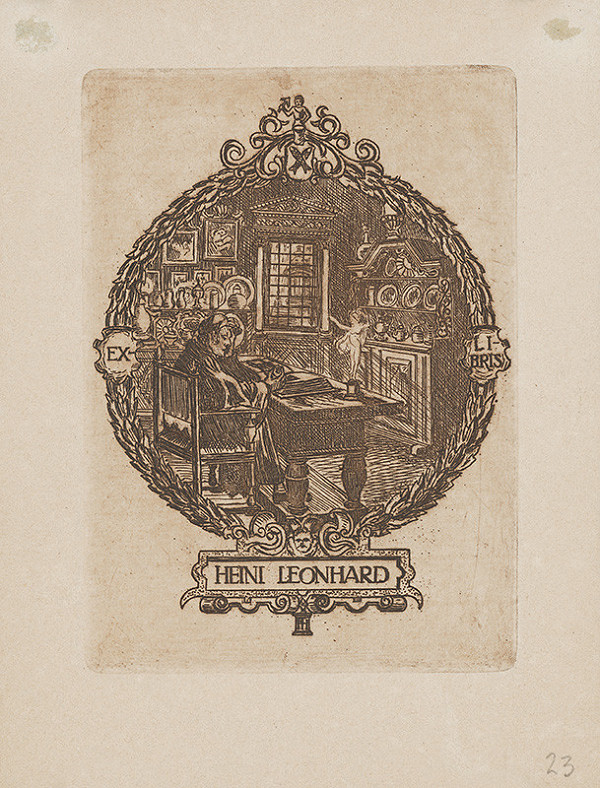 Stredoeurópsky grafik z 1. polovice 20. storočia - Ex libris Heini Leonhard