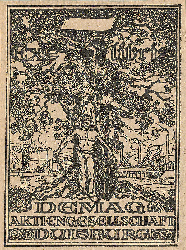 Stredoeurópsky grafik z 1. polovice 20. storočia – Ex libris  Maitinszky Ernö