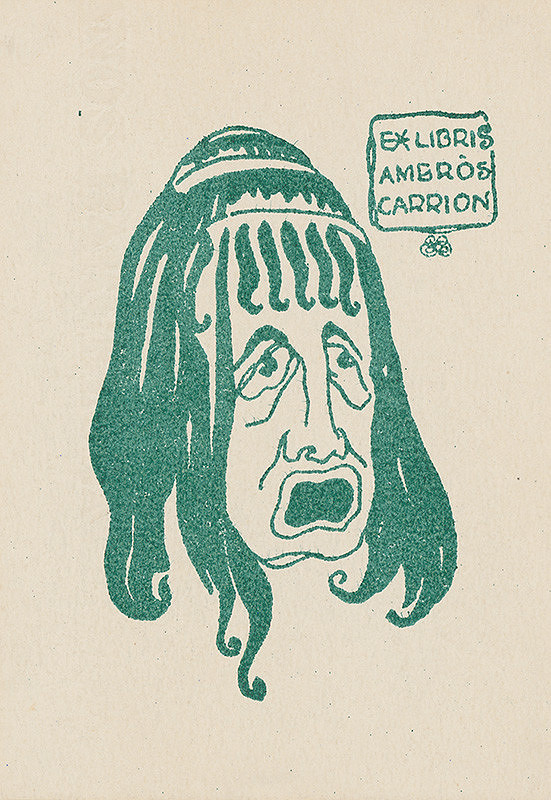 Stredoeurópsky grafik z 1. polovice 20. storočia - Ex libris Ambrós Carrion