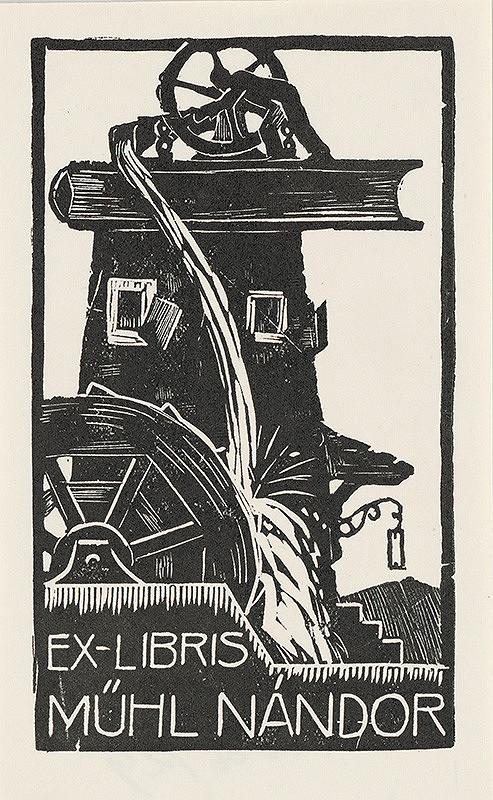 Stredoeurópsky grafik z 1. polovice 20. storočia – Ex libris Műhl Nándor