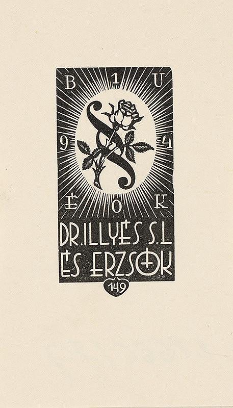 Stredoeurópsky grafik z 1. polovice 20. storočia - Ex libris Dr. Illyés S.L. és Erszók